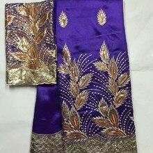Африканские блестки Джордж кружева высокого качества Джордж кружевная ткань с сеткой кружевная ткань блузка Индийский Шелк-сырец Джордж обертки материал