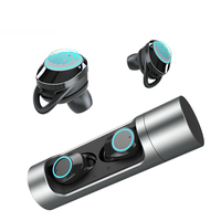 Wireless Earphone Bluetooth 5.0 with Dual Microphone 3D Stereo Sport Earphone in ear Earbuds Handsfree headset for Phone PC MP3