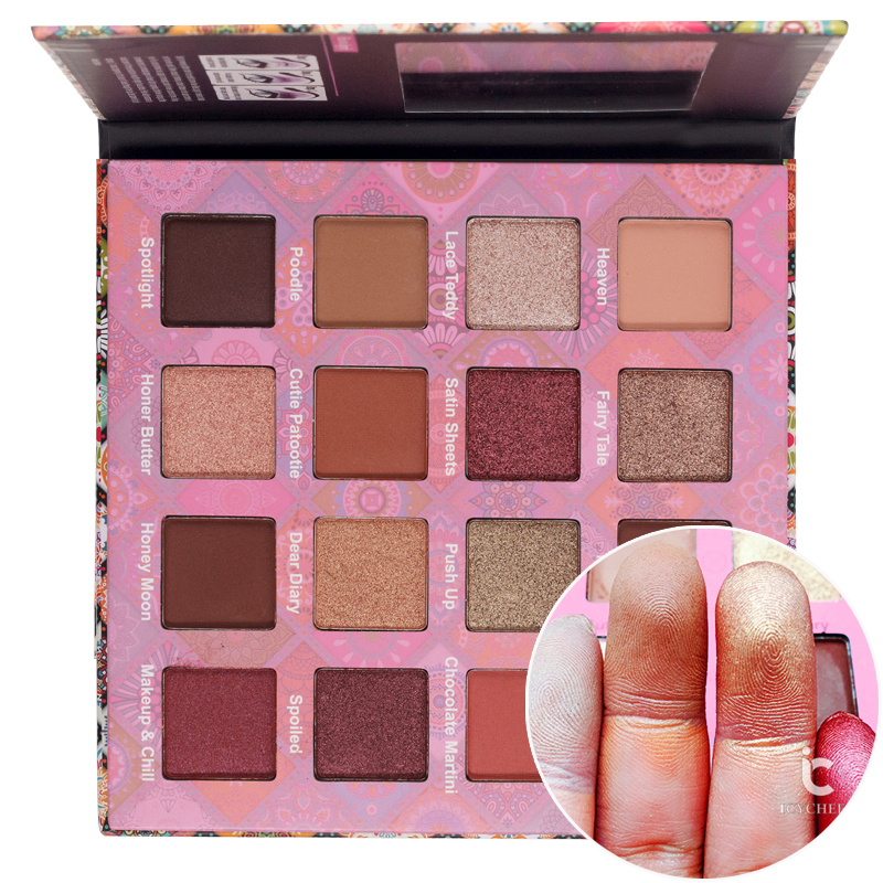ICYCHEER New Charming Eyeshadow 16 Color Make up Palette Shimmer Matte Pigments Eye Shadow Powder Nude Cosmetics