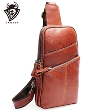 Men Messenger Leather Chest Pack Casual Mens Travel Shoulder Bag For Women Waist