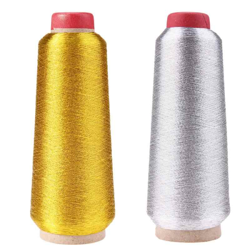 3000M Gold/Silver Computer Cross-stitch Embroidery ThreadsSewing Thread Line Textile Metallic Yarn Woven Embroidery Line