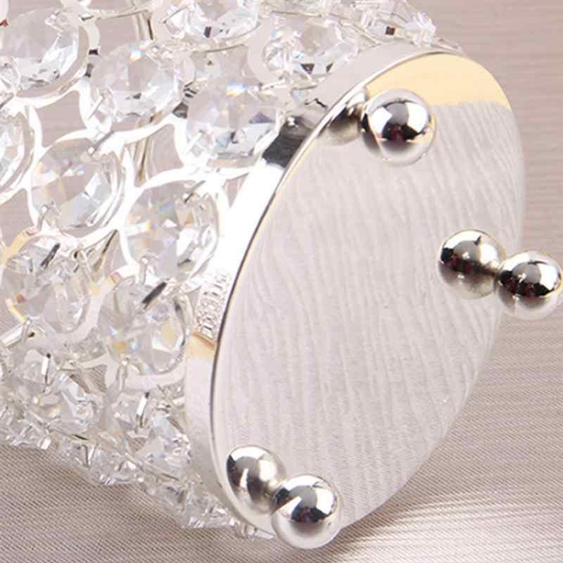 1 шт. подсвечник Круглый цилиндрический кристалл серебряный кофе чай современные декоративные настольные подарок свет Jar