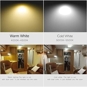 Image 2 - 12V 9W Araba Karavan LED Sıcak Beyaz Işık Kapalı Çatı Tavan Iç Lamba kubbe ışık