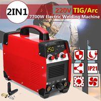 220 В 7700 Вт 20 250A 2IN1 TIG/ARC Электрический сварочный аппарат ММА IGBT палка инвертор для сварки рабочей и электрические рабочие