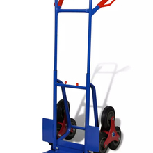 6-Wheel Blue-Red Sack Truck With 150 Kg Capacity Hand