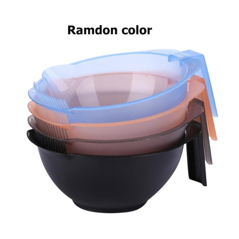 1pc Plastic Dye Bowl Hair Dyeing Palette Bowls Salon Dye Mixing Bowls Hairdressing Styling Tool