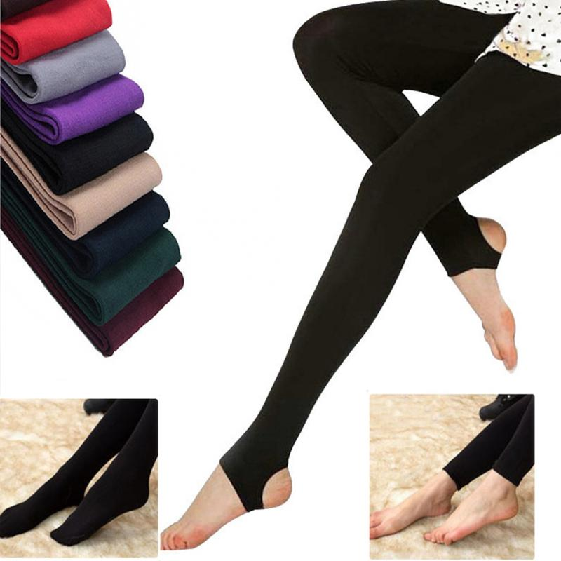 Fashion Warm   Leggings   Seamless Brushed Stretch Fleece Lined Thick   Leggings   Warm Winter Spring   Leggings   Drop Shipping