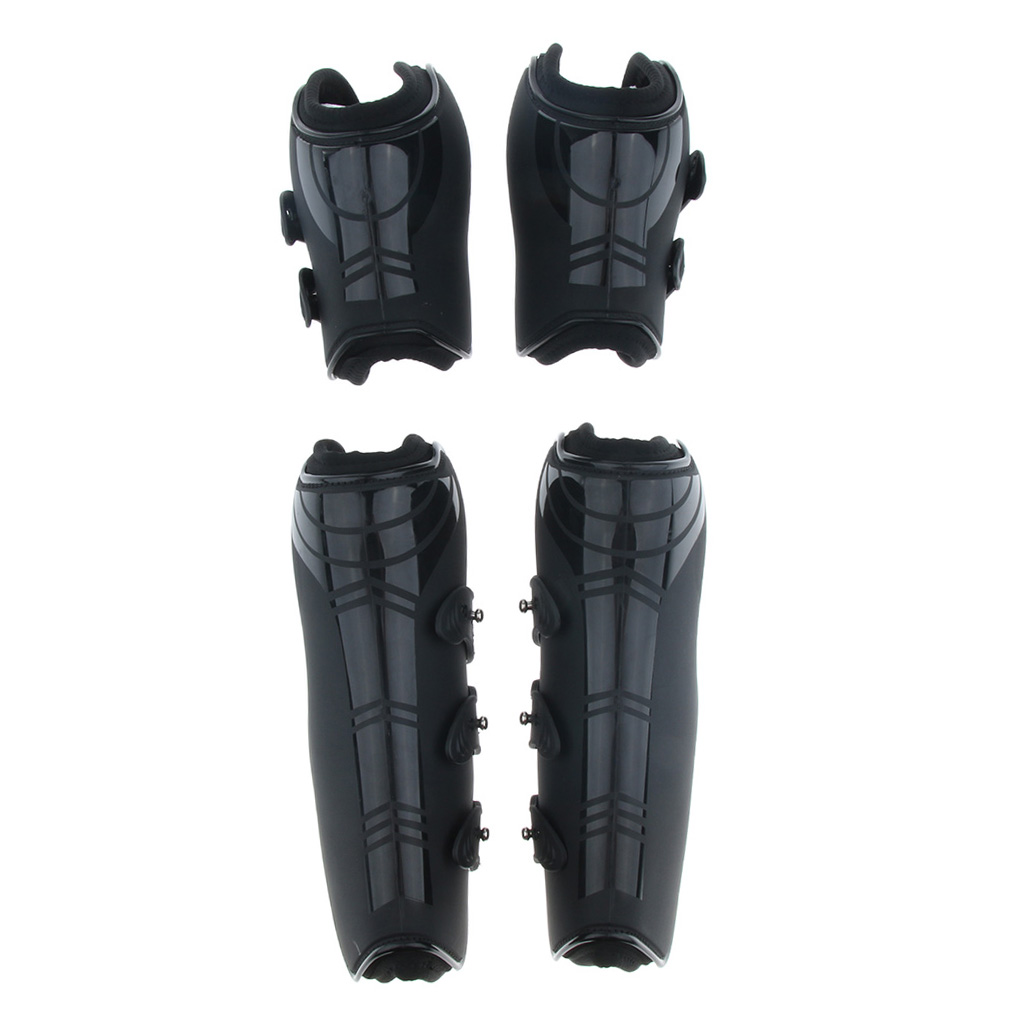 2 Set Horse Pony Exercise Jumping Boot Open Front Tendon & Fetlock Boots, Black