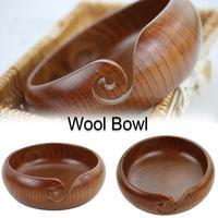Wool Bowl Handmade Wooden Crochet Bowl Yarn Storage Bowl for Knitting