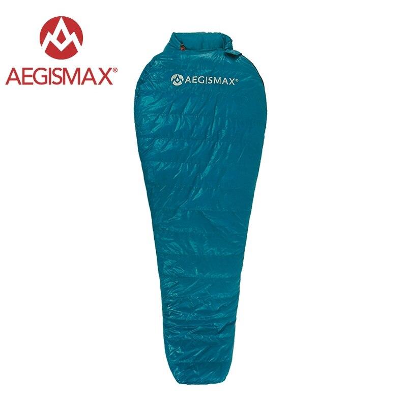 Aegismax nouveau Mini mise à niveau sac de couchage 95% duvet d'oie blanche épissure momie ultra-léger randonnée Camping 800 FP Nano Nano2 rouge bleu - 2