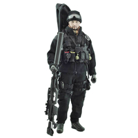 1/6 Scale VeryHot Soldier Action Figure Accessories Suit Set Black Task Sniper Uniform Equipment for 12 Inch Male Soldier Model