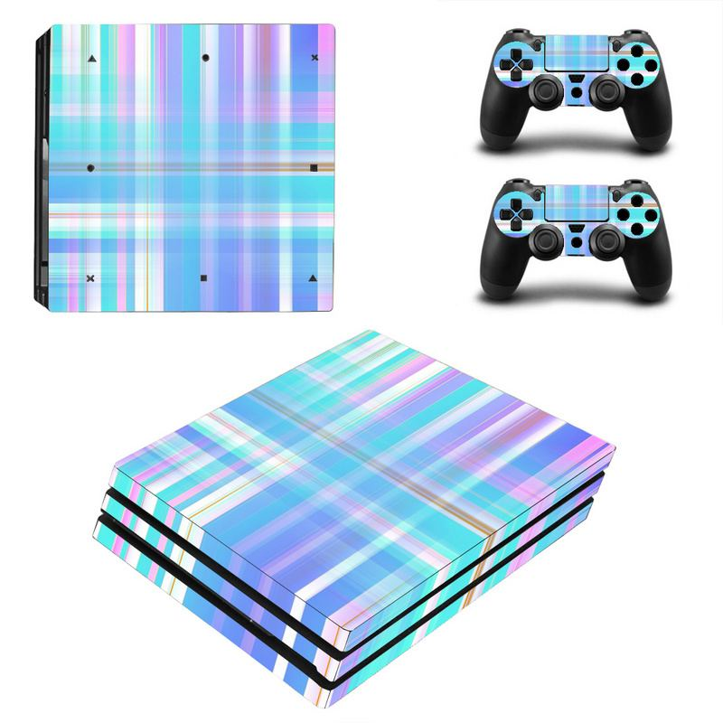 For PlayStation 4 Console and 2 Controller Game Skin Sticker Line Series Vinyl Game Console Controller Decals