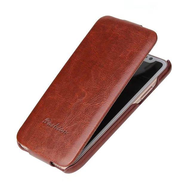 For iphone X flip case Luxury Vertical Flip PU Leather ...
