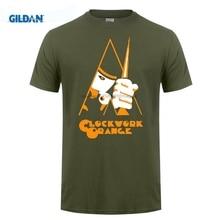 GILDAN Hip-Tope Pop Top Tee black for men A Clockwork Orange Alex Malcolm McDowell round Neck tee shirt cotton simple New Style