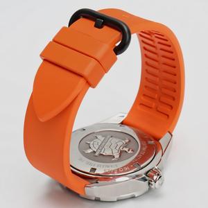 Image 3 - MAIKES Qualität fluororubber uhrenarmbänder 20mm 22mm 24mm Orange gummi uhr strap band uhr zubehör für sport tauchen uhren