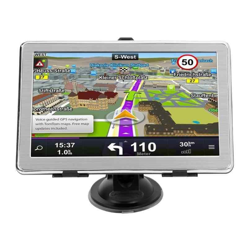 X8 7Inch Touch Screen 8GB GPS Tracker Device Ultra Thin Car Truck GPS Navigation System Portable GPS Navigator FM transmitting