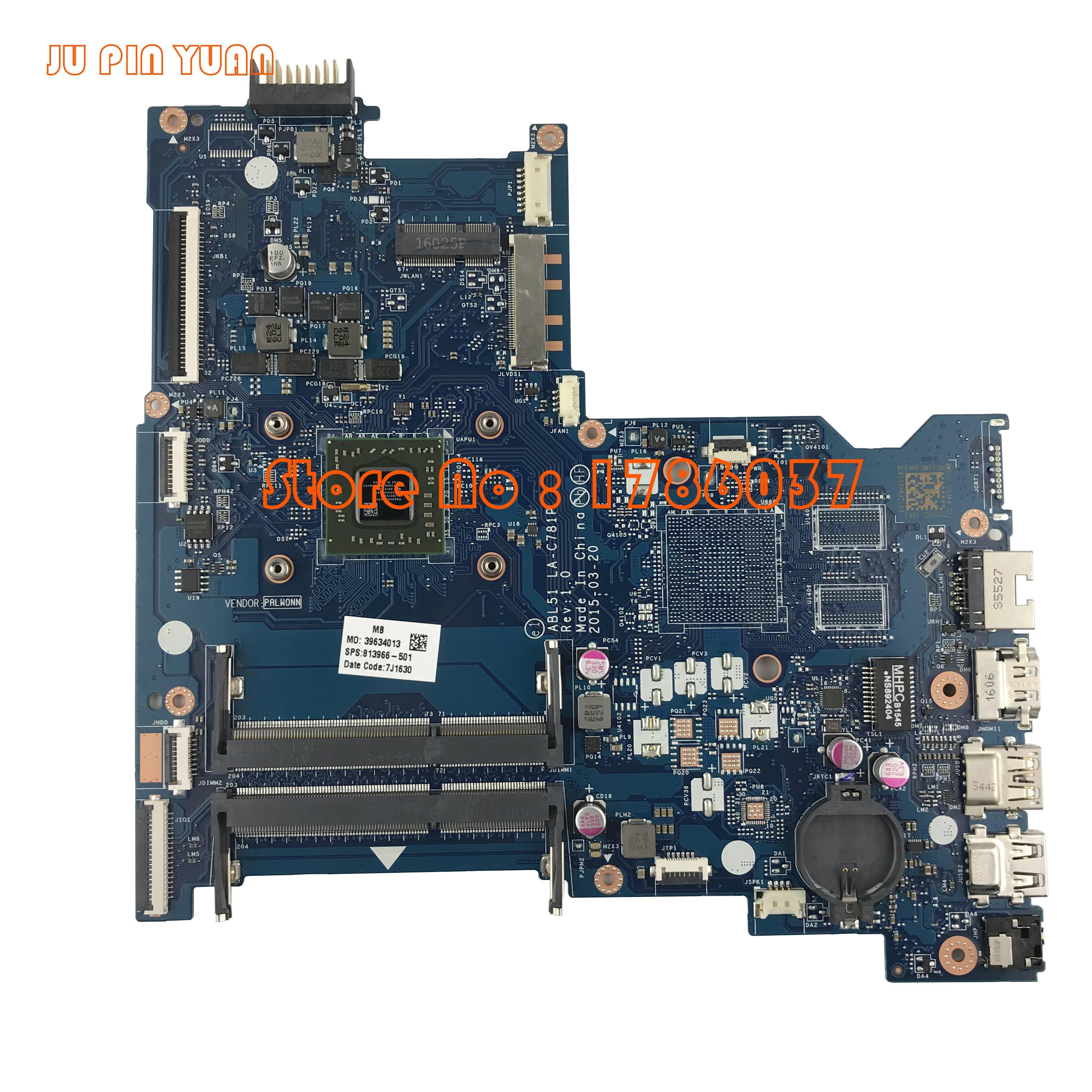JU PIN YUAN 813966 001 813966 501 ABL51 LA C781P for HP Notebook 15 AF Series