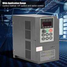 цена на 2HP Vector Type VFD Frequency Inverter Converter 1-Phase 220V to 3-Phase 0-220V 7A High Quality