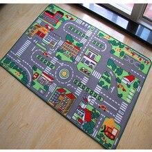 80x120cm tapetes de jogo do bebê estrada do carro verde que desenvolve esteira tapete de rastreamento crianças tapete brinquedos educativos para crianças gym jogo piso macio