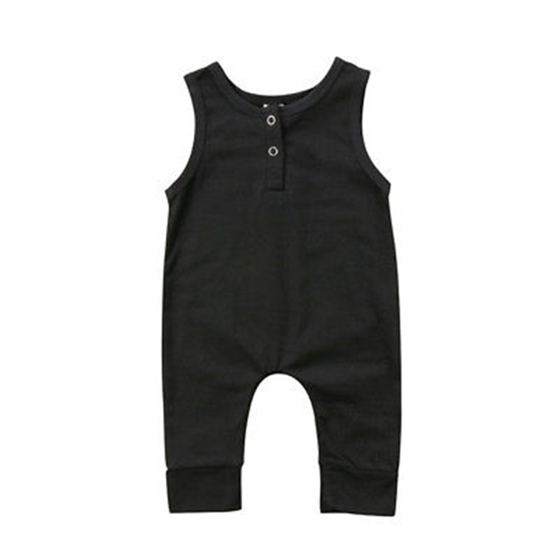 2019 Brand New Newborn Toddler Infant Kids Baby Girls Boys   Romper   Sleeveless Jumpsuit Harem Pants Clothes Solid Cotton Outfits