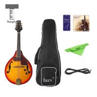 Tooful Exquisite Spruce 8 Strings A Style Electric Mandolin with Storage Bag 6.35mm Cable Professional String Instrument