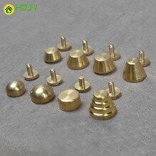 10PCS/LOT Gold Screw Nail Brass Rivet DIY Hardware Accessories for Luggage Durable Bag Craft Handbag