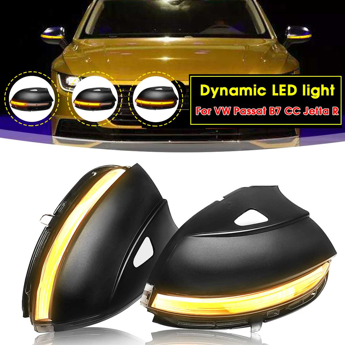 2pcs/set Dynamic Mirror Indicator Blinker LED Turn Light Side Mirror Flowing Signal Light for VW for Passat B7 CC for Jetta R2pcs/set Dynamic Mirror Indicator Blinker LED Turn Light Side Mirror Flowing Signal Light for VW for Passat B7 CC for Jetta R