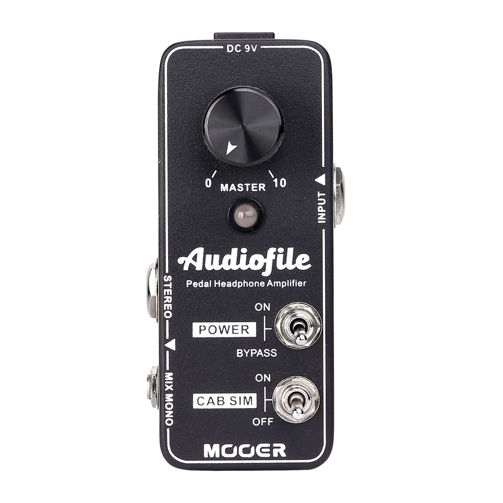 Mooer Audiofile Analog Mini Headphone Amplifier Speaker Cabinet Simulation Guitar Effects Pedal True BypassMooer Audiofile Analog Mini Headphone Amplifier Speaker Cabinet Simulation Guitar Effects Pedal True Bypass