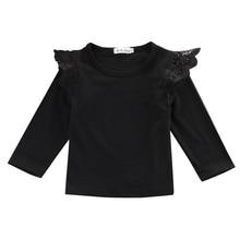 Baby Girl Kids Clothes Blouse Ruffles Long Sleeve T-Shirt
