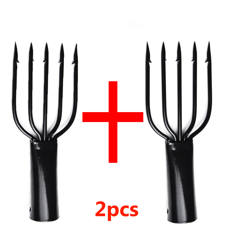 2pcs Fishing Spear Harpoon fork and gun spear fishing spears Diving fish stainless steel 5 prong harpoon|Fishing Tools| |  - title=