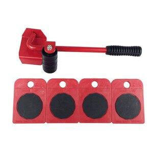 Image 3 - קידום! נע כבד אובייקט טיפול כלי 5 ב 1 ביתי ריהוט נייד מכשיר עבודה חיסכון מוט ברזל יד כלי סט