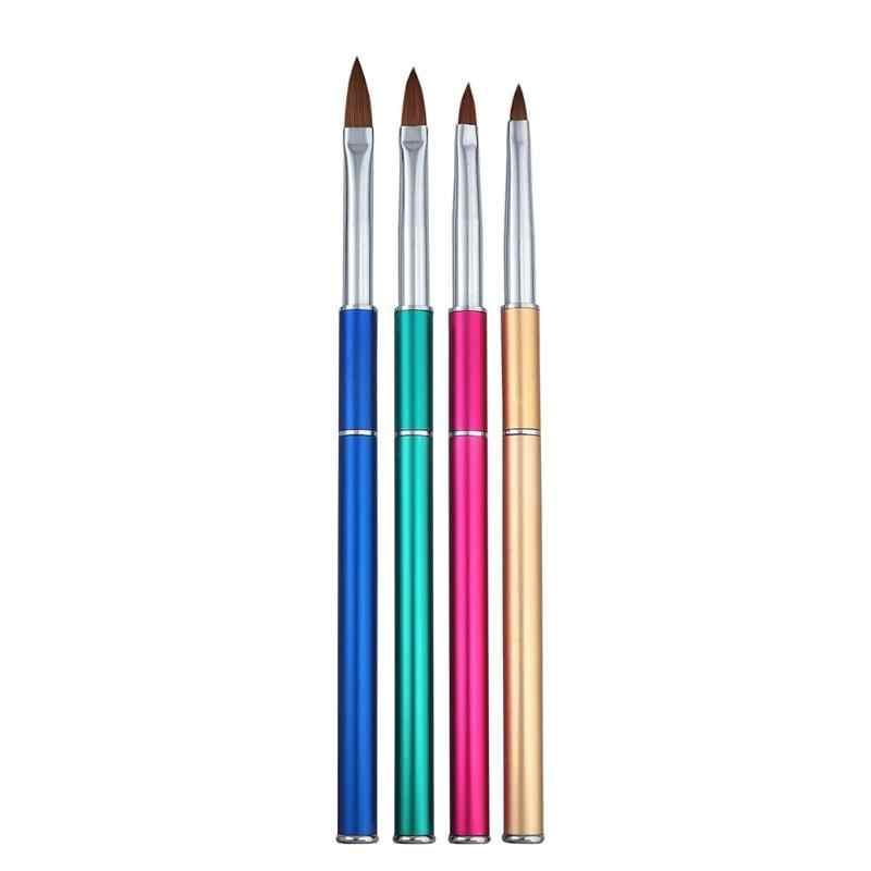 1 шт. кисть для дизайна ногтей Хрустальная резьба по дереву ручка гель УФ маникюр