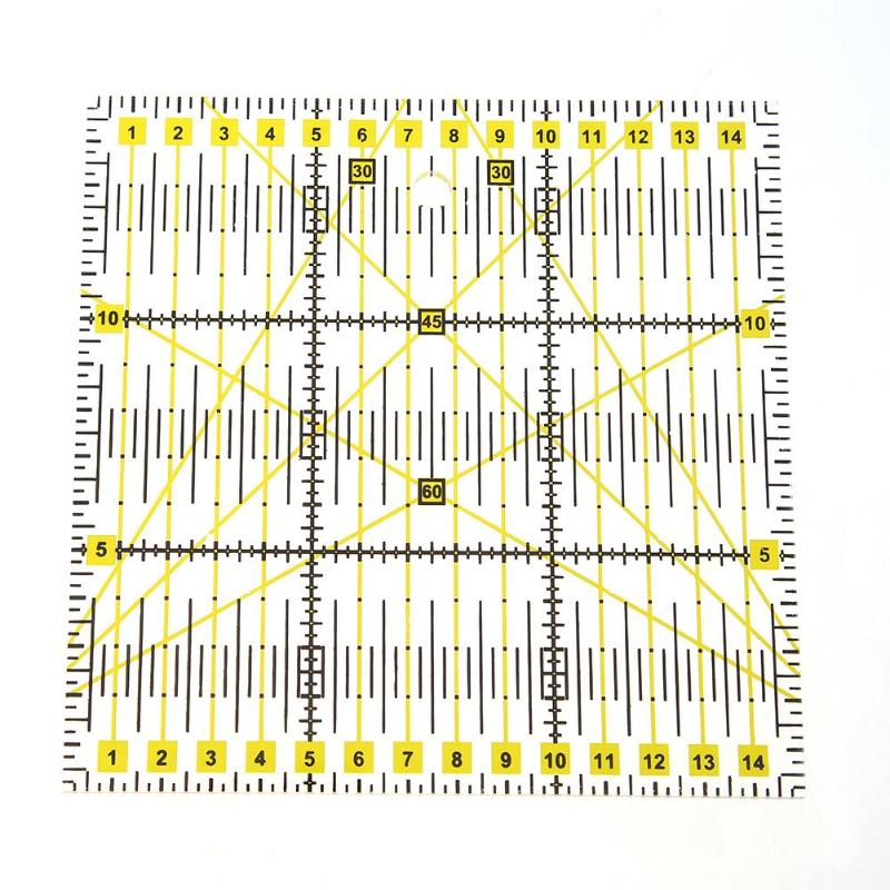 DIY Hand Tool Patchwork Ruler Square Fan Shape Tailor Yardstick Cloth Cutting Rulers Sewing Arts Craft DIY Sewing Tools 1PC