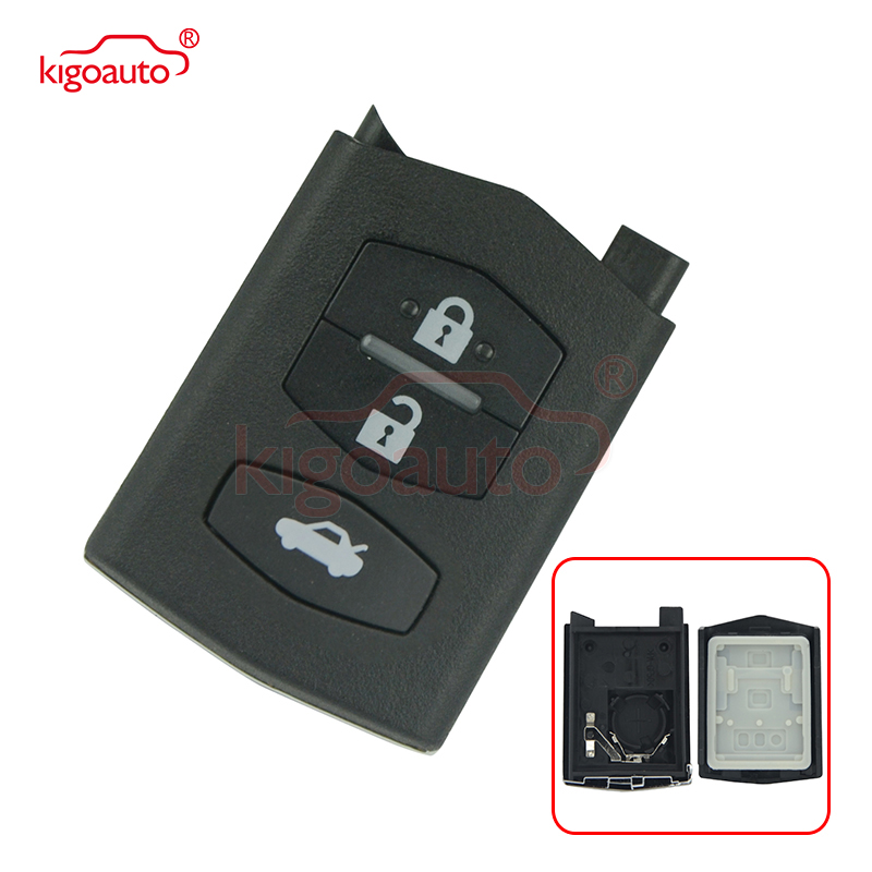 Kigoauto Remote key case cover 3 button for Mazda 2 3 5 6 MX-5 RX-8 2003 - 2013 car key replacement shell image