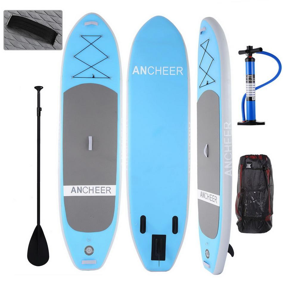 ANCHEER 10ft Gonflable Stand Up Paddle Board iSUP Planche De Surf Surf Wakeboard Surf Conseil avec Réglable Paddle Sac À Dos Pompe À Main