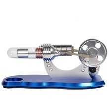 Hot Air Stirling Engine Colorful Led Flywheel Education Toy Electricity Power Generator Model цена 2017