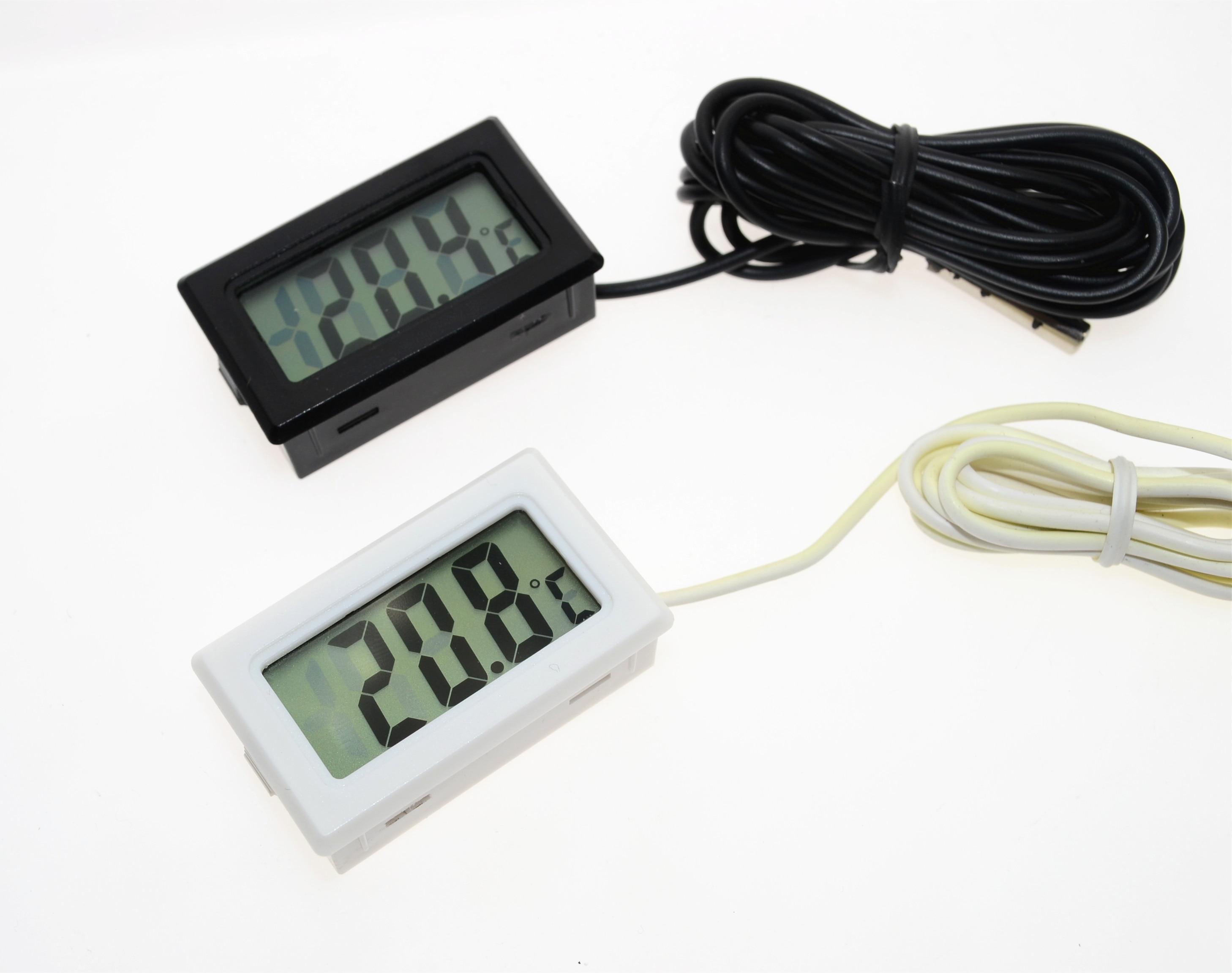 Цифровой мини термометр с ЖК дисплеем, датчик температуры, автоматическое управление холодильником, морозильной камерой, термометр|thermometer temperature|thermometer digital lcdthermometer lcd | АлиЭкспресс