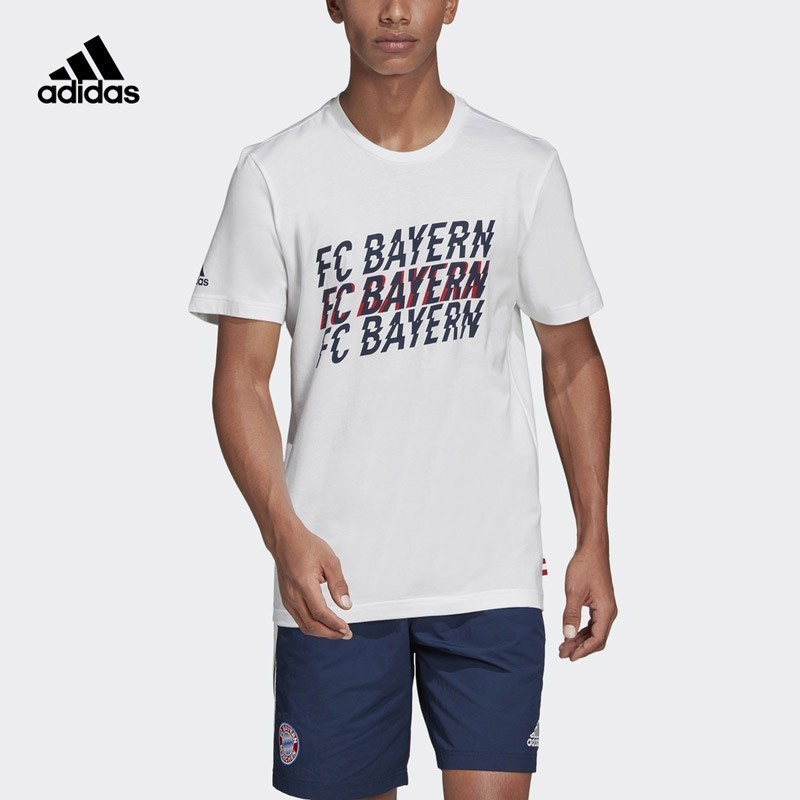 Adidas FCB STR GR TEE-shirt homme Bayern Football T-shirt manches courtes Sportswear # DP4102