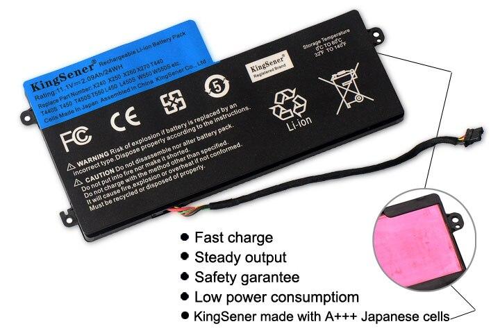 11.1 v 24WH KingSener Nouvelle Batterie Interne pour Lenovo ThinkPad T440 T440S T450 T450S X240 X250 X260 X270 45N1110 45N1111 45N1112 - 2