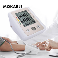 Digital Electronic Wrist Arm Sphygmomanometer Blood Pressure Heart Pulse Measuring Monitor with Voice Blood Monitor Meter