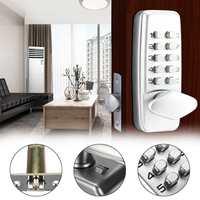 Zinc Alloy Miniature Mechanical Combination Lock Waterproof Digital Lock Keyless Password Code Lock For Home Furniture Hardware