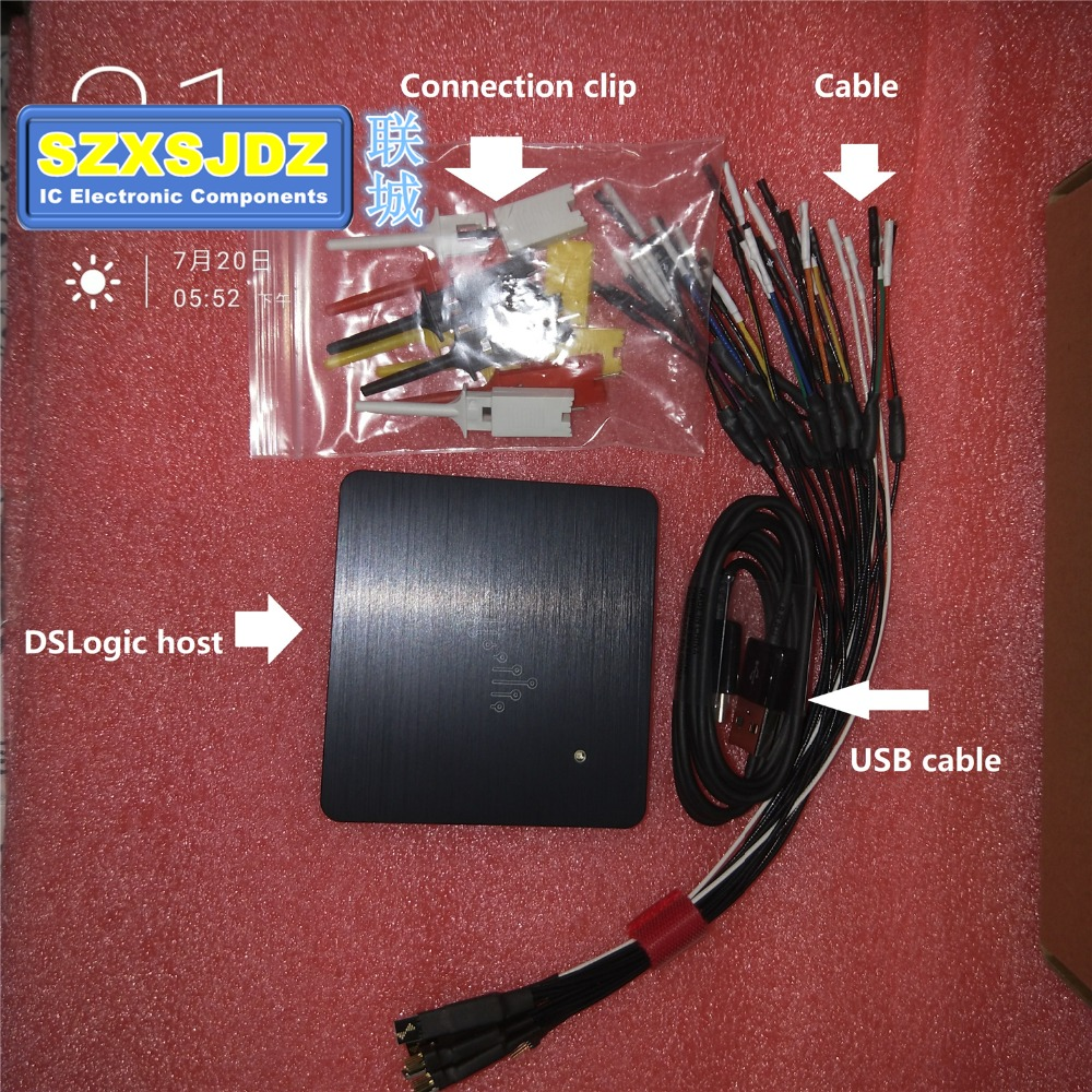 logic16 saleae16 USB 100M 400M logic analyzer ARM FPGA decoder tool Oscilloscope DSLogic DSCope for suporte