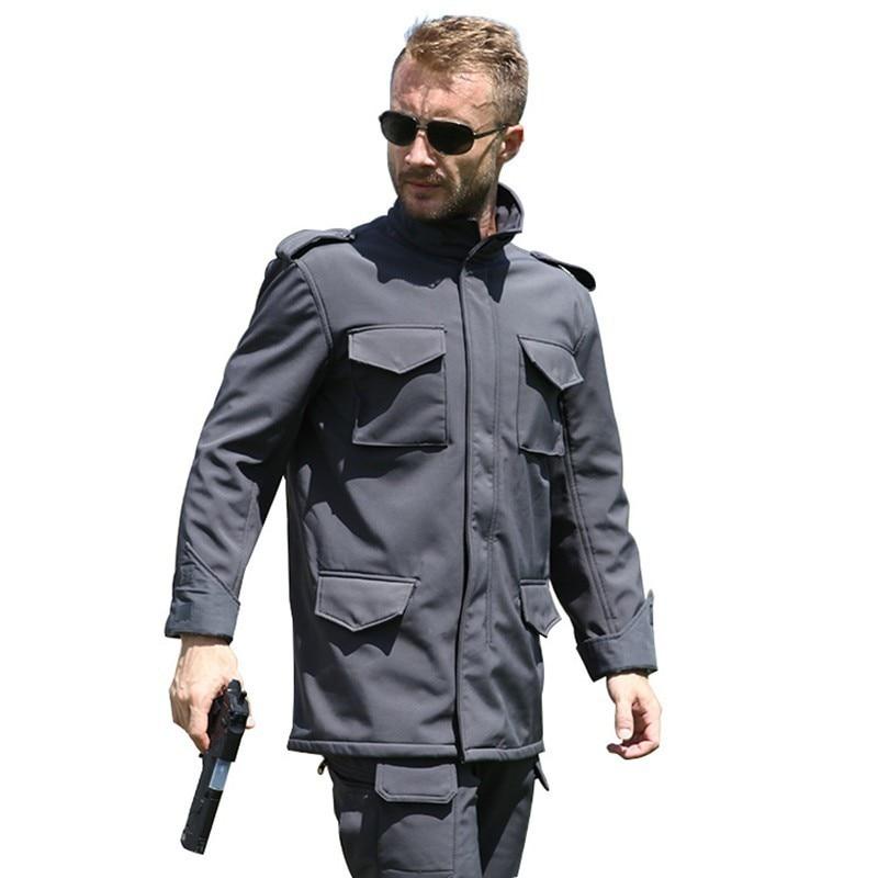 Hommes en plein air chaud polaire M65 doux Shell veste printemps automne escalade chasse équitation randonnée thermique coupe-vent armée tactique manteau