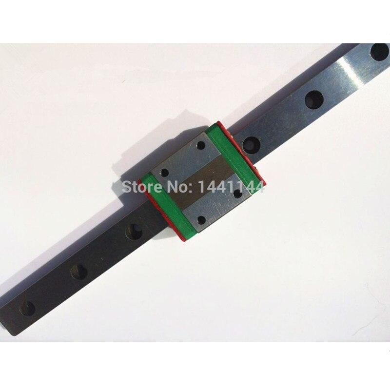 MGN15 Miniature rail linéaire: 2 pièces MGN15-800mm + 4 pièces MGN15C/MGN15H transport pour X Y Z axe 3d imprimante pièces