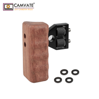 CAMVATE DSLR Wood Wooden Handle for right Grip Mount Support for DV Video Cage Rig C1476 camera photography accessories