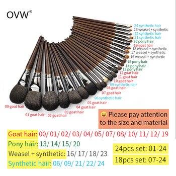 OVW 1Pcs Oblique Head Blush Makeup Brush Face Cheek Contour Cosmetic Powder Foundation Blush Brush Angled Makeup Brush Tools 3