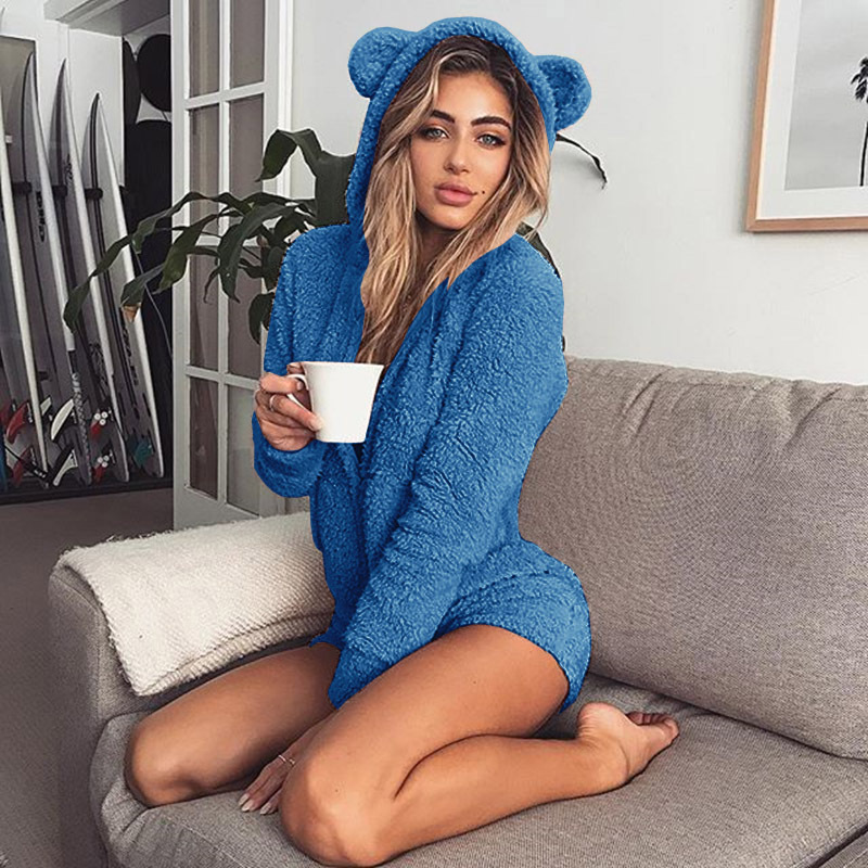 Big Size 5XL Pajama Women Sexy Pijama One Piece Pyjamas Winter Warm Fleece Animal Jumpsuit Hooded Onesies Pajamas For Adults