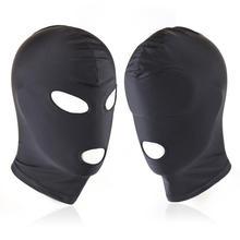 Fetish Harness Head Hood BDSM Slave Game Bondage Restraint Face Mask Erotic Sex