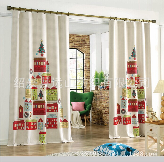 new arrival beautiful christmas curtains finshed cloth curtain rh aliexpress com holiday curtains for living room