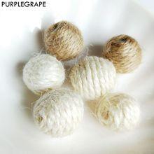 Hemp Rope Weaving Perforated Beads DIY Earrings Jewelry Accessories Material Handmade 8pcs PURPLEGRAPE